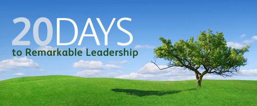 20 Days to Remarkable Leadership
