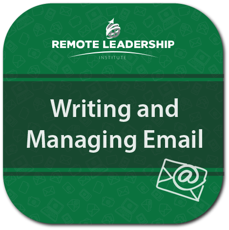 The logo for the Writing and Managing Email Video Course